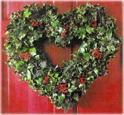 Holly Heart Wreath
