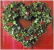 Holly Heart Wreath