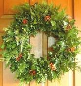 Holly & Cedar Wreath