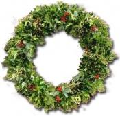 Small Holly & Greens Wreath