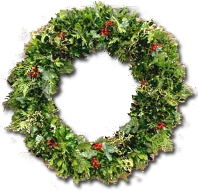 Small Holly & Greens Wreath