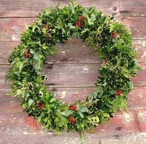 36 life magazine wreath holly greens wreath - Elegant Christmas Wreaths