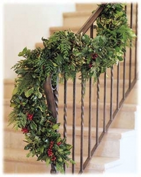 Holly & Evergreen Garland